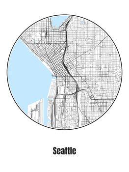 Harta orașului Seattle