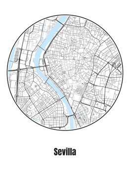Map Sevilla
