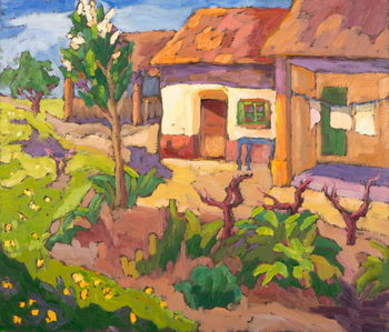 Spring Awakening  oil on board Reproducere