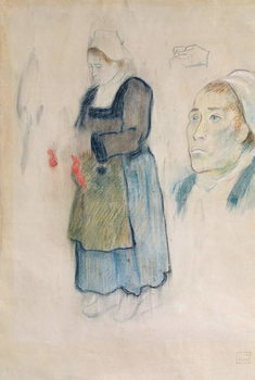 Studies of Breton peasants, 1888 Reproducere