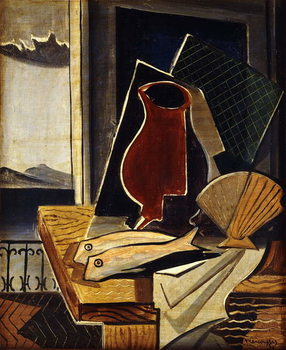 Table in Front of a Balcony; Table devant le Balcon, 1926 Reproducere