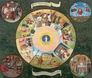 Tabletop of the Seven Deadly Sins and the Four Last Things Reproducere