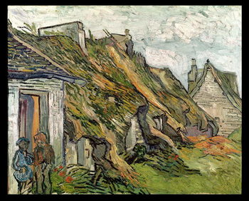 Thatched Cottages in Chaponval, Auvers-sur-Oise, 1890 Reproducere