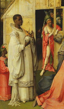 The Adoration of the Magi, detail of one of the kings, 1510 (oil on panel) Reproducere
