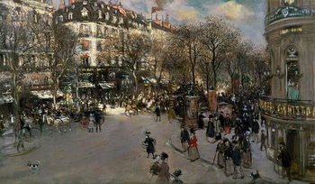 The Boulevard des Italiens, c.1900 Reproducere