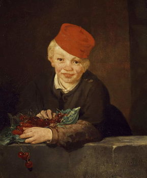The Boy with the Cherries, 1859 Reproducere