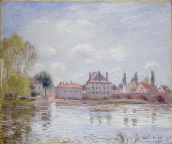 The Bridge at Moret-sur-Loing, 1890 Reproducere