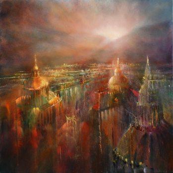 Ilustrare The city awakening