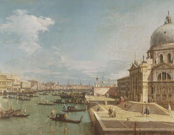 The Entrance to the Grand Canal and the church of Santa Maria della Salute, Venice Reproducere