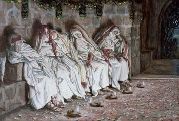 The Foolish Virgins, illustration for 'The Life of Christ', c.1886-94 Reproducere