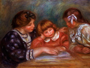 The Lesson, 1906 Reproducere