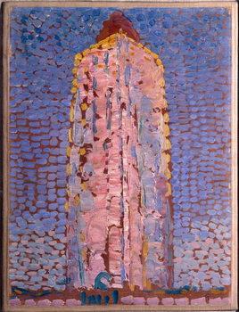 The lighthouse of Westkapelle, Veere, Zelande (Lighthouse of Westkapelle, Netherlands) Painting by Piet Mondrian , 1909-1910 Dim 39x29 cm Milan museo del novecento Reproducere