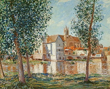 The Loing at Moret, September Morning Reproducere
