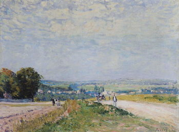 The Road to Montbuisson at Louveciennes, 1875 Reproducere