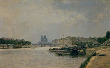 The Seine from the Quai de la Rapee Reproducere