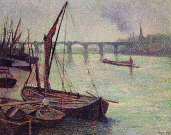 The Thames at Vauxhall Bridge, 1893 Reproducere