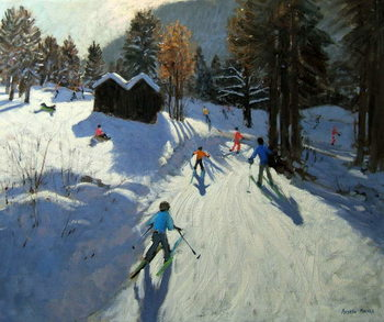 Two mountain huts, Pleney, Morzine Reproducere