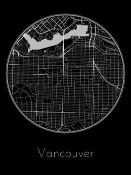 Harta orașului Vancouver