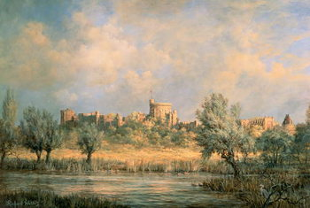 Windsor Castle: from the River Thames Reproducere