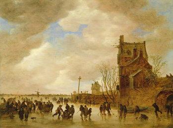 A Winter Skating Scene Reprodukcija