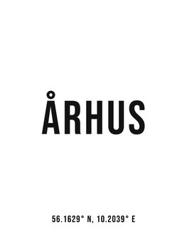 Ilustracija Aarhus simple coordinates