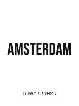 Ilustracija Amsterdam simple coordinates