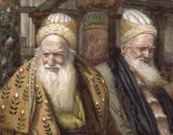 Annas and Caiaphas, illustration for 'The Life of Christ', c.1886-94 Reprodukcija