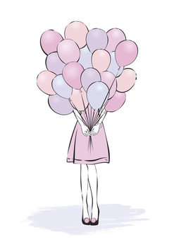 Ilustracija Balloons