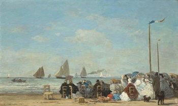Beach Scene at Trouville, 1863 Reprodukcija