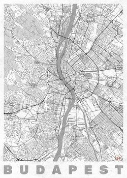 Zemljevid Budapest
