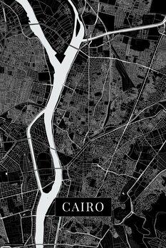 Zemljevid Cairo black