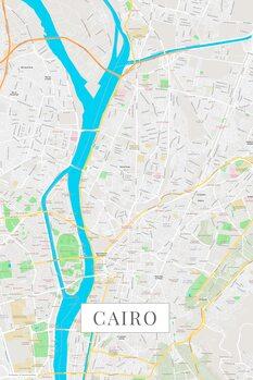 Zemljevid Cairo color