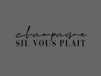 Ilustracija Champagne sil vous plait