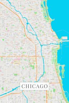 Zemljevid Chicago color