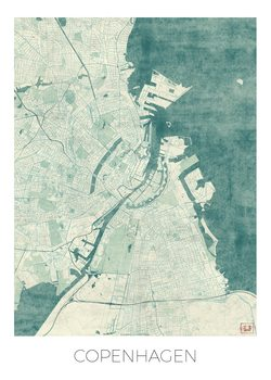 Zemljevid Copenhagen