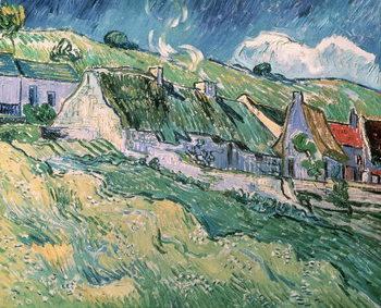 Cottages at Auvers-sur-Oise, 1890 Reprodukcija