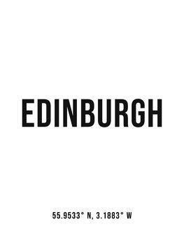 Ilustracija Edinburgh simple coordinates