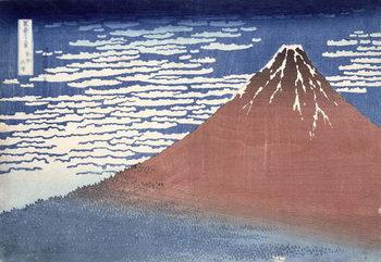 Fine weather with South wind, from 'Fugaku sanjurokkei' (Thirty-Six Views of Mount Fuji) c.1831 Reprodukcija