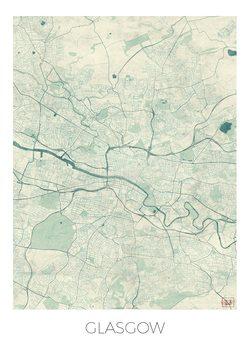 Zemljevid Glasgow