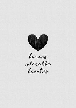 Ilustracija Home Is Where The Heart Is
