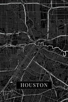 Zemljevid Houston black