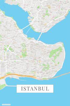 Zemljevid Instanbul color