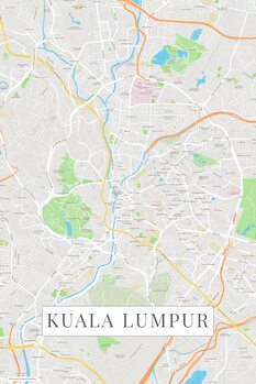Zemljevid Kuala Lumpur color