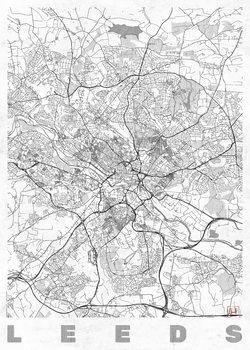 Zemljevid Leeds