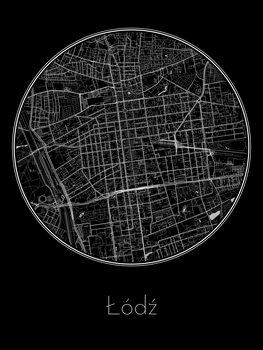 Zemljevid Łódź