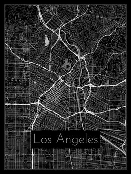 Zemljevid Los Angeles