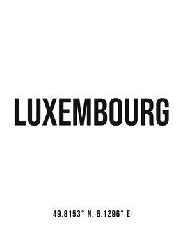 Ilustracija Luxembourg simple coordinates