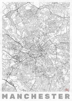 Zemljevid Manchester
