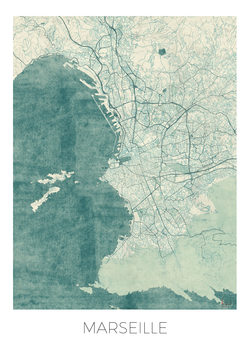 Zemljevid Marseille