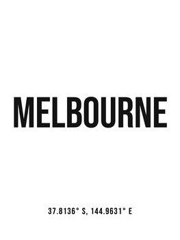 Ilustracija Melbourne simple coordinates